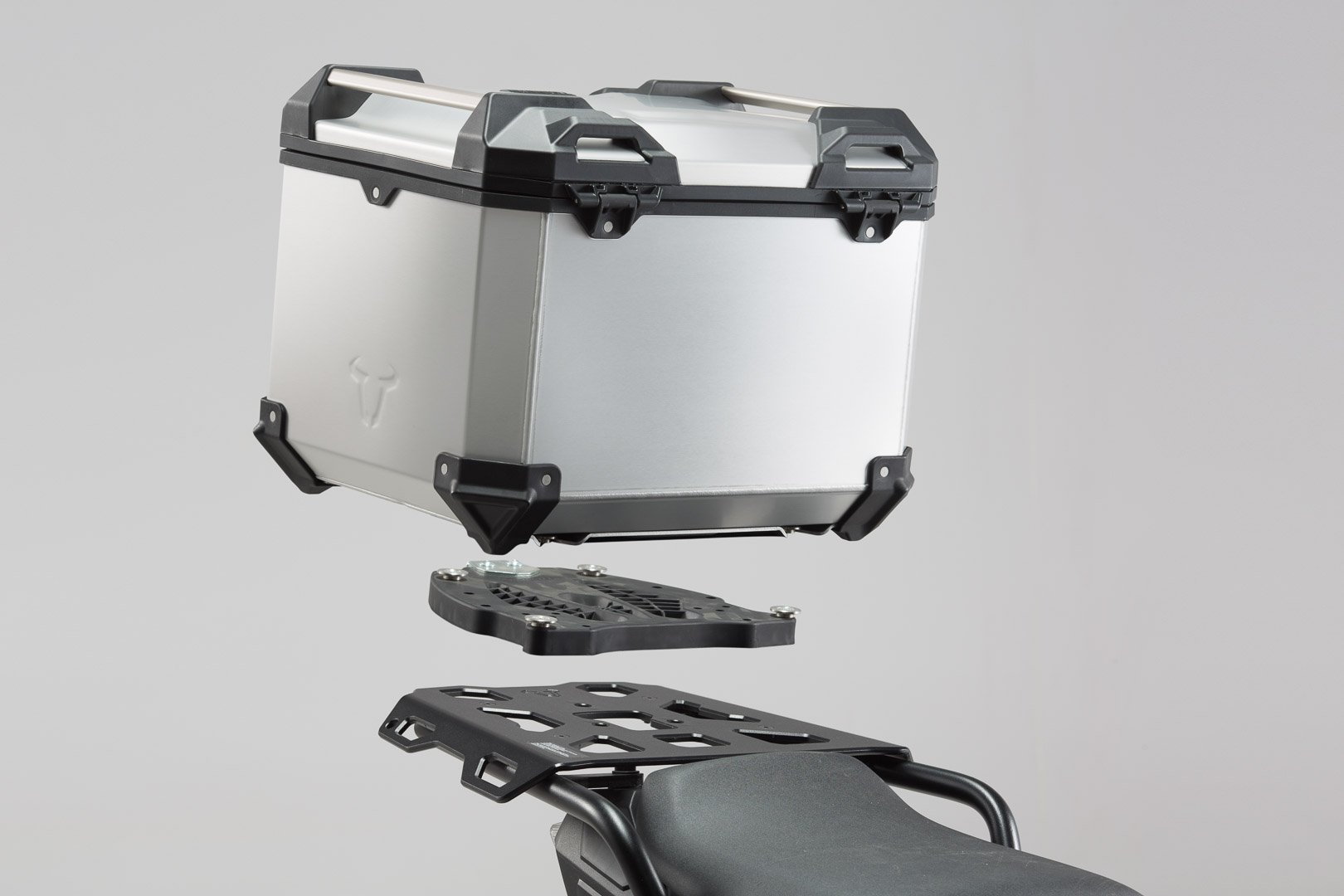 SW-Motech TRAX ADV top case system (silver) Triumph Sprint ST 1050 / Tiger 1050 SE