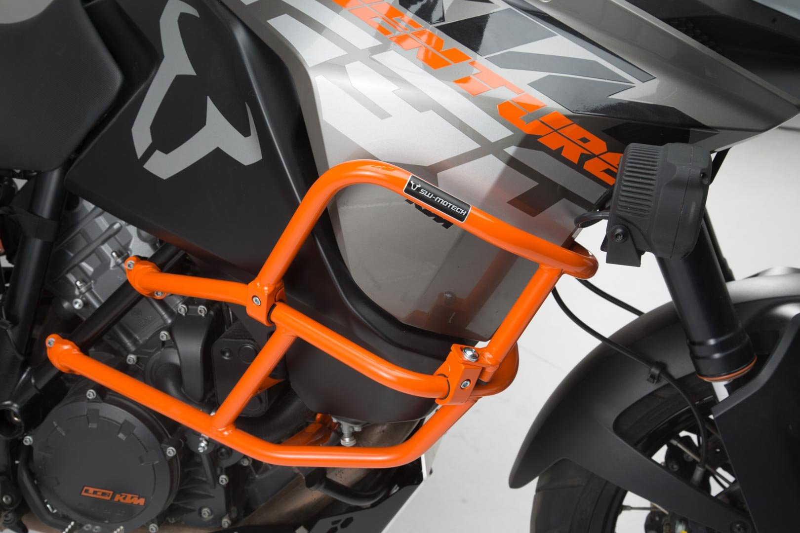 SW-Motech upper crash bar for orig. KTM crash bar (orange) 1290 SAdv R / S (16-), 1090 Adv (16-)