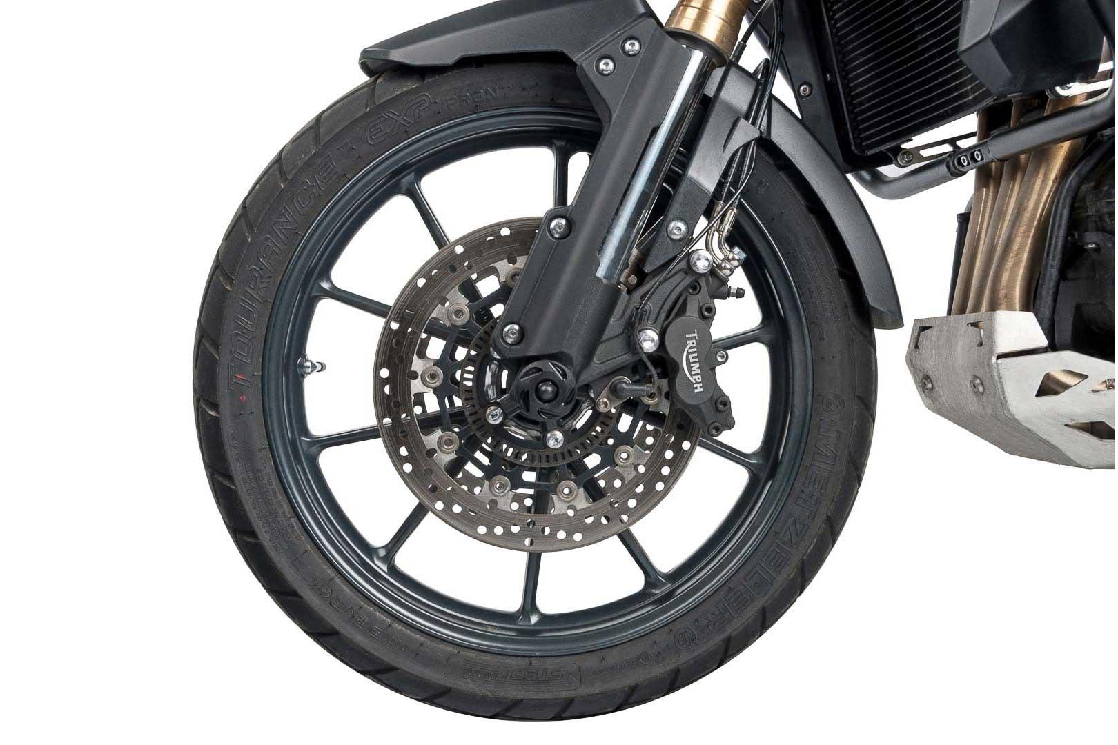 SW-Motech front axle sliders (black) Triumph, Honda, Yamaha