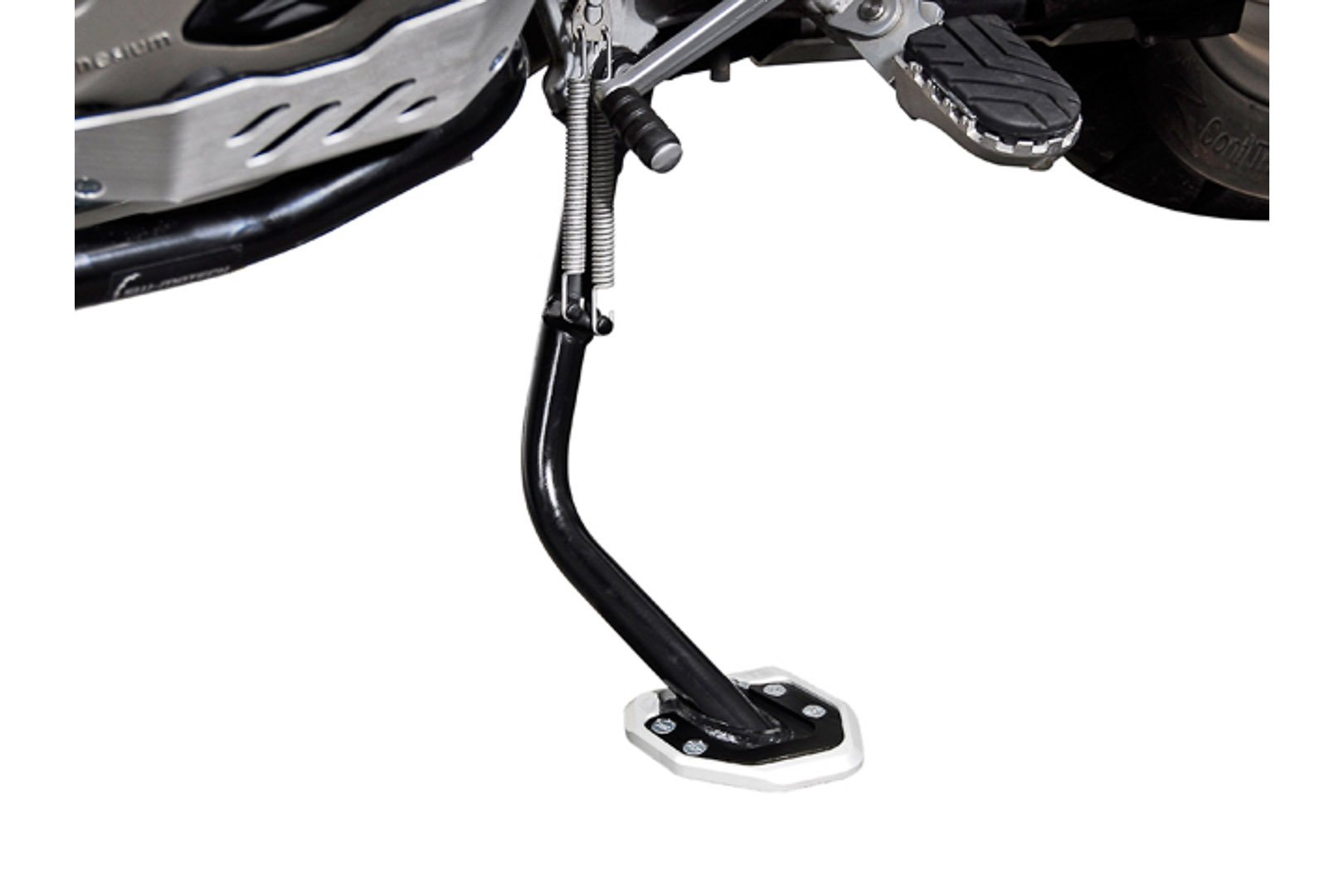 SW-Motech extension for side stand foot (black/silver) BMW R1200GS / R1200GS adventure