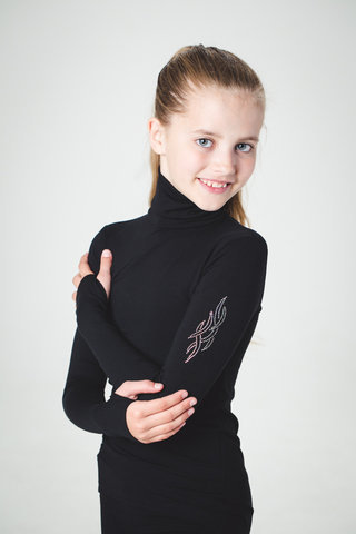 "Girls ""Flame"" Turtleneck"